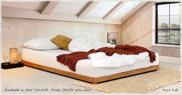 low loft wooden bed frame by get